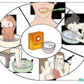 Bicarbonato de usos de beleza de refrigerante