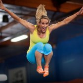 Classe Ação: céu Robics área do céu interior trampolim parque em Los Angeles