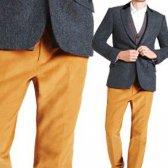 calças de veludo para os homens