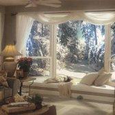 Diferentes maneiras de suspender lenços janela