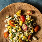 Saudável Food 52: salada de milho e cevada torrada com vinagrete de tomate