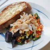 Saudável Food 52: o milho verão e jantar salada de truta defumada