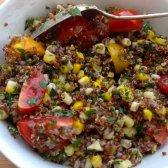 Salada de Verão Quinoa com milho e ervas frescas: alimentos saudáveis 52