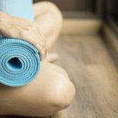 Limpo comentário tapete de yoga da ONU