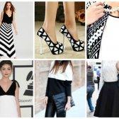 Como estilo de combinação preto e branco