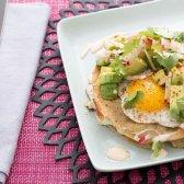 quesadillas couve e queso Oaxaca com ovos fritos [receita]