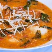 Receita: sopa de tortellini Fácil com espinafre e tomates