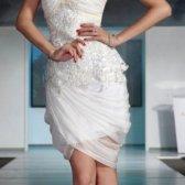 vestido branco para um cocktail