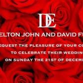 Sir Elton John solicitar sua presença em seu casamento