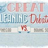 A grande limpeza debate: Vinagre vs bicarbonato de sódio