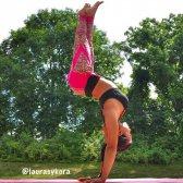 Setembro: um novo yoga greve colocar e fotografia