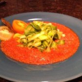 fettuccine Zucchini com bolonhesa de legumes assados [receita]